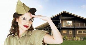 Девушка военная