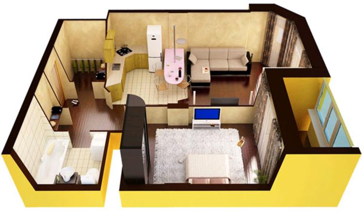 двухкомнатная квартира от застройщика